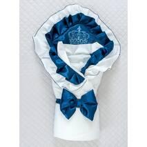 Демисезонный конверт на выписку Lari Excellent 85х85 см бело-синий