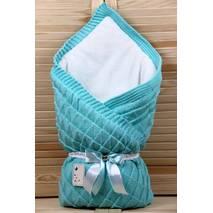 Зимний конверт-одеяло Lari Вязка 85х85 см бирюза