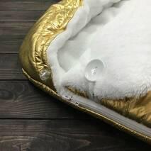 Зимний конверт кокон на выписку из роддома Кокон плюс Gold 70х40 см золотой