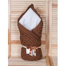Зимний конверт-одеяло Lari Вязка 85х85 см шоколад