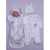 Набор одежды для новорожденного в роддом Lari Корона 56 голубой