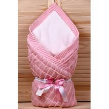 Демисезонный конверт-одеяло Lari Вязка 85х85 см розовый