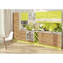 Кухня Эко с многоуровневыми верхними секциями