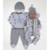 """Набор одежды для новорожденного в роддом Lari """"Ты есть...."""" 56 белый"""