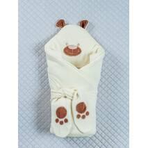 Зимний конверт-одеяло Lari Little Bear 85х85см молочный