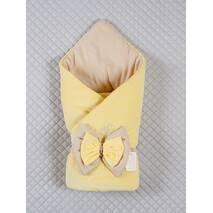 Демисезонный конверт-одеяло Lari Бант 85х85 см желтый