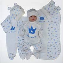 Набор одежды для новорожденного в роддом Lari 7 предметов 56