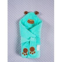 Зимний конверт-одеяло Lari Little Bear 85х85см бирюза