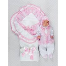Комплект на выписку летом Lari Beautiful Мари 56 розовый