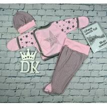"""Набор одежды для новорожденного в роддом Lari """"Ты есть...."""" 56 розовый"""