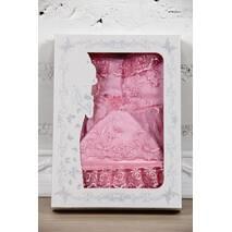 Наряд на крестины девочке Lari Мари 56 розовый