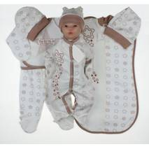 Набор одежды для новорожденного в роддом Lari 7 предметов 56 какао