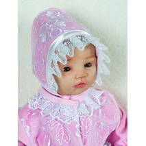 Велюровый наряд на крестины девочке Lari Мари 56 розовый