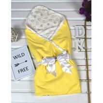 Летний конверт на выписку из роддома Lari Little Baby 85х85 см желтый