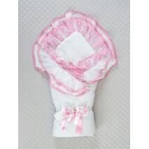 Демисезонный конверт на выписку Lari Beautiful 85х85 см розовый