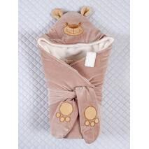 Зимний конверт-одеяло Lari Little Bear 85х85см молочный шоколад