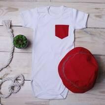 Костюмчик з панамою Літо червоний
