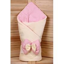 Демисезонный конверт-одеяло Lari Бант 85х85 см розовый
