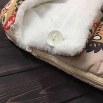 Зимний конверт кокон на выписку Кокон плюс Совы 70х40 см
