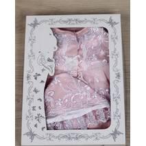 Набор на выписку из роддома Мари 56 розово-белый