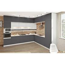 Кухня Эко с фасадами дсп ламинированная и барной стойкой