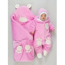 Зимний конверт-одеяло Lari Little Bear 85х85см розовый