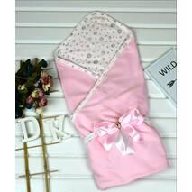 Летний конверт на выписку из роддома Lari Little Baby 85х85 см розовый