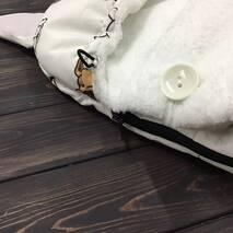 Зимний конверт кокон на выписку Кокон плюс Собачки 70х40 см