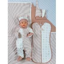 Набор одежды для новорожденного в роддом Lari Звезды 56 шоколад