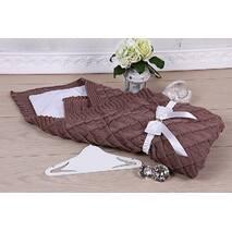Конверт-одеяло демисезонный Lari Вязка 85х85 см шоколад