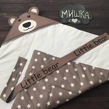 Демисезонный конверт одеяло Мишка звезда 86х86 см