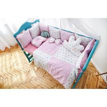 Комплект постельного белья Облачко Розово-белый