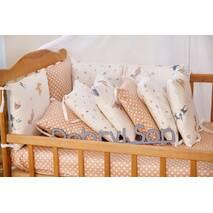 Комплект постільної білизни для новонароджених із защитой-бортиками Верона Білочка