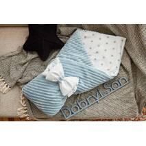 Конверт-одеяло для новорожденного плюш Stripse+бязь Осень Dobryi Son 100х80 см 7-06