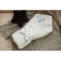 Конверт-одеяло для новорожденного плюш Stripse+бязь Осень Dobryi Son 100х80 см 7-06 Белый