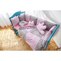Комплект постельного белья Облачко Розово-серый