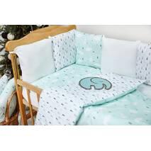 Бортики-защита в ліжечко з сатину Верона Ялиночки Dobryi son