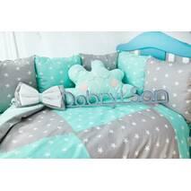 Комплект постельного белья Облачко Мятно-серый