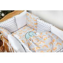 Комплект постільної білизни для новонароджених із защитой-бортиками Верона - 2 Лисички