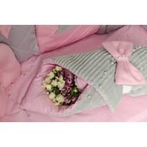 Комплект постельного белья для новорождённых Шарм 10-02 розовый