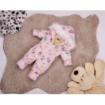 Комбинезон сдельный детский зимний на овчине Natalie Look Зайки 134-140 см розовый