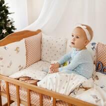 Комплект постільної білизни для новонароджених із защитой-бортиками Верона - 2 Білочки