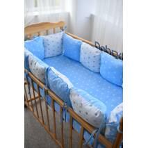 Захист зі знімними наволочками в ліжечко Dobryi son Bravo 12 шт 3-03-1 Біло-блакитної зірки