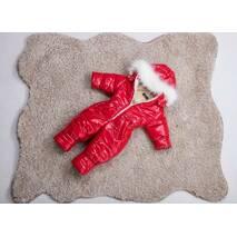 Комбінезон дитячий зимовий на овчині Natalie Look Блиск 86-92 см червоний