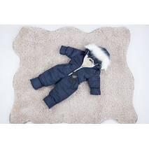Комбінезон дитячий зимовий на овчині Natalie Look Style 98-104 см синій