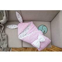 Конверт-одеяло для малыша Dobryi Son Капюшон с ушками Зайки 100х80 см