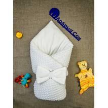 Конверт-одеяло плюш Minki+махра ПЛЮС Dobryi Son Белый