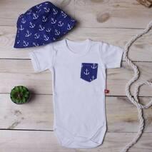 Костюмчик з панамою Літо синій