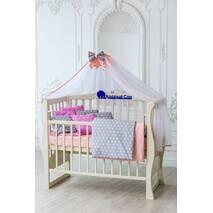 Комплект постельного белья для новорождённых Bravo 03-03 Унисекс 120х60 см серо-розовый