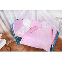 Комплект постельного белья Есо Розово-белый
